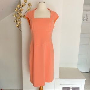 Maggy London coral body-con dress size 8